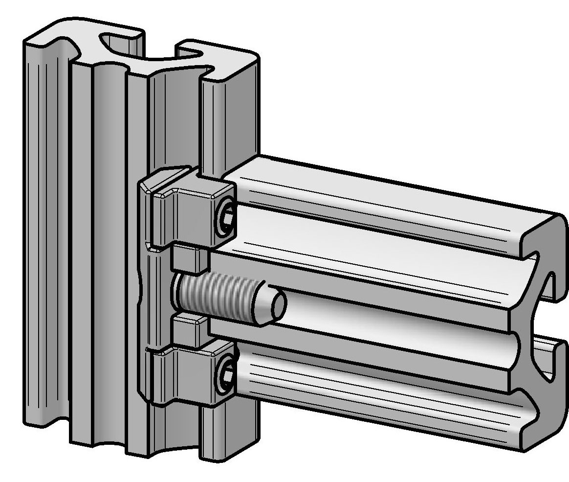 Direktverbindersatz doppelt   Alváris Profile Systems