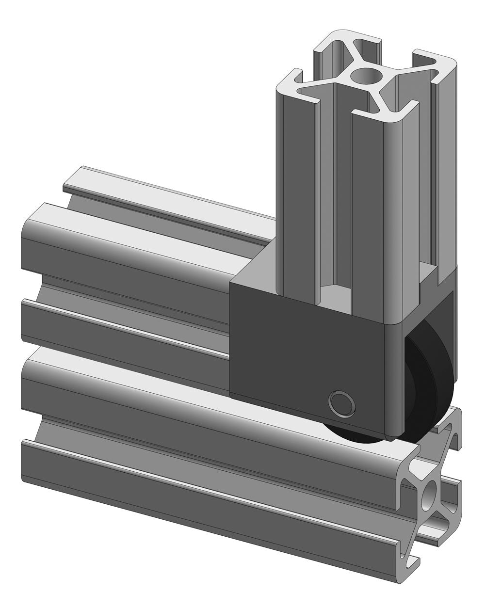 Verbindersatz 8 30x30 mit rollenlagerung alv ris pro le for Fenster 30x30