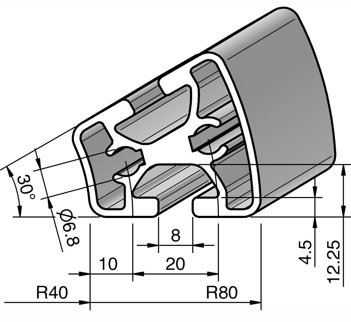 profil r40 80 30 alv ris pro le systems. Black Bedroom Furniture Sets. Home Design Ideas