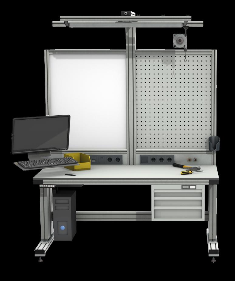 arbeitstisch mit ohne h henverstellung alv ris pro le systems. Black Bedroom Furniture Sets. Home Design Ideas